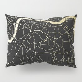London Black on Gold Street Map Pillow Sham