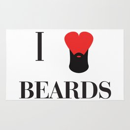 I heart Beards Rug