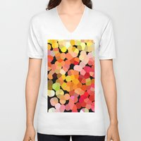 confetti V-neck T-shirts featuring Confetti by Rosie Brown