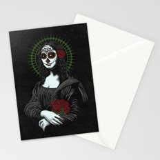 Viva La Mona Muerte Lisa Stationery Cards