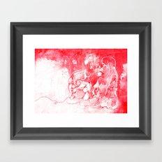 Love Is Red Framed Art Print