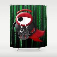 dracula Shower Curtains featuring Dracula matrix by tanduksapi