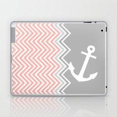 Coral Nautical Chevron  Laptop & iPad Skin
