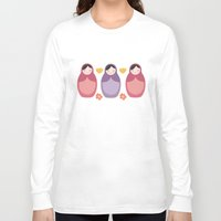russian Long Sleeve T-shirts featuring Russian Dolls by ItsJessica