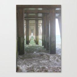 High Tide Pier [2] Canvas Print