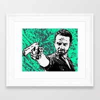 rick grimes Framed Art Prints featuring Rick Grimes by Blake Lee Ferguson