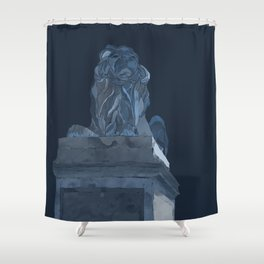 Library Lion Shower Curtain
