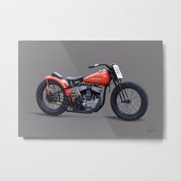 '51 Harley Davidson WR Flat Tracker Metal Print