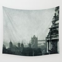 london Wall Tapestries featuring London by Ingrid Beddoes