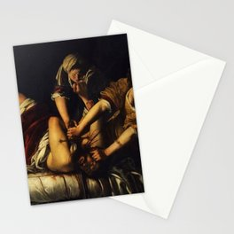 Judith Beheading Holofernes Gentileschi Painting Stationery Cards