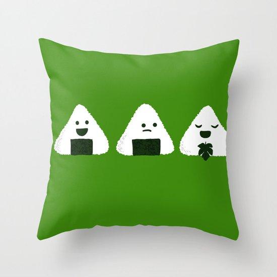 Nude Onigiri Throw Pillow