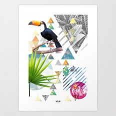 Tropical Mess Art Print