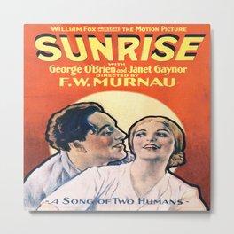 Illustrated Movie Poster - Sunrise  Metal Print