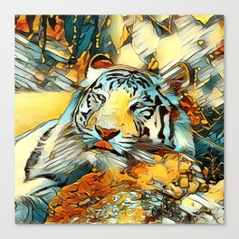 AnimalArt_Tiger_20170603_by_JAMColorsSpecial Canvas Print