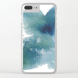 Feeling Adventurous - Abstract Acrylic Painting, Moody blues Clear iPhone Case