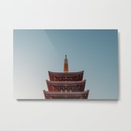 Sensoji Temple Rooftop Tokyo 2017 Metal Print