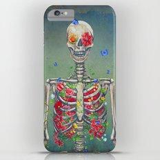 Blooming skeleton on the grunge background  Slim Case iPhone 6 Plus