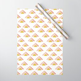 Pink and Yellow Boho Triangles Wrapping Paper