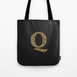 Floral Letter Q Tote Bag