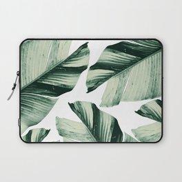 Tropical Banana Leaves Vibes #1 #foliage #decor #art #society6 Laptop Sleeve