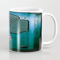 radio Mugs featuring Vintage Radio by 2sweet4words Designs