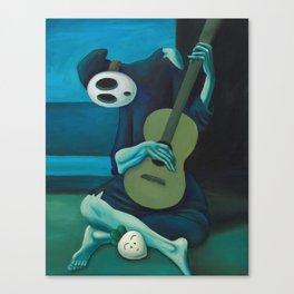 The Shy Guitarist Canvas Print