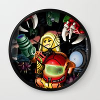 metroid Wall Clocks featuring LEGO Metroid!! by Meteo Designs