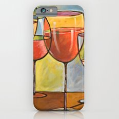 Whites and Reds ... abstract wine glass art, kitchen bar prints Slim Case iPhone 6