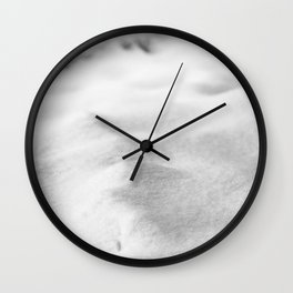 Snow Close up // Winter Landscape Powder Snowing Photography Ski Snowboarder Snowy Vibes Wall Clock