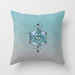 Sacred Geometry Eye Of Protection Throw Pillow