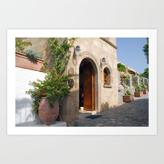 Greek Doorway Art Print