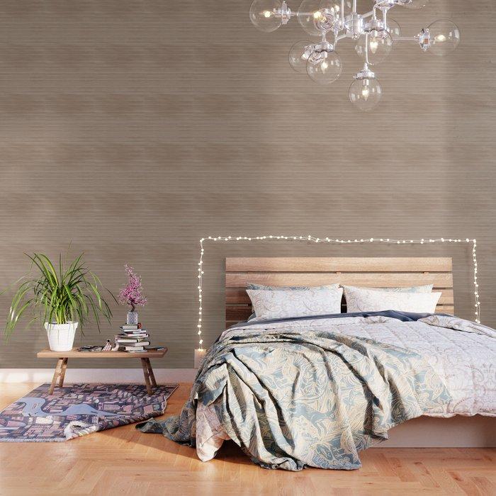 Light Hazelnut Brown  Weathered Whitewash Wooden Beach Hut Wallpaper