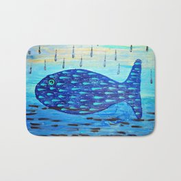Black Rain Bath Mat
