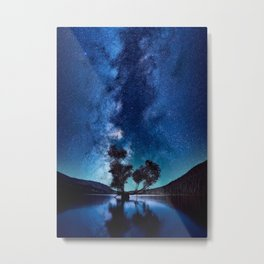 The World Above (Perfect Night Sky with Stars) Metal Print