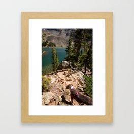 Glacier Lake Colorado- Lake Agnes Framed Art Print