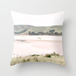 Boats on the water (color) Throw Pillow