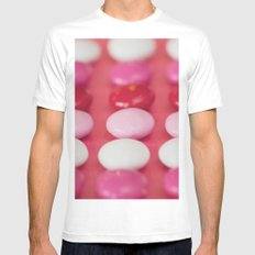 Dot, dot, dot . . . . MEDIUM Mens Fitted Tee White