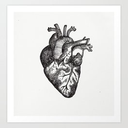 The Human Heart Art Print