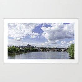 Prague Castle and Charles Bridge Art Print