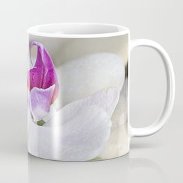 white Orchid flower  and green Bamboo still life Coffee Mug