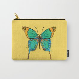 Simple Colorful Butterfly Carry-All Pouch