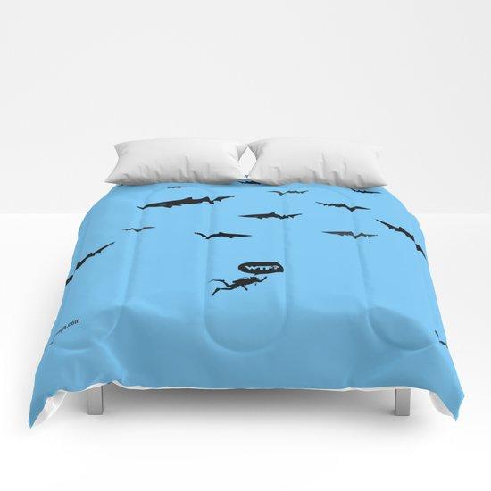 WTF? Tiburones! Comforters