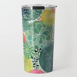 Succulent Circles Travel Mug