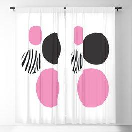 Pink zebra Blackout Curtain