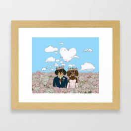 Dachshund Lovers - Honeymoon Framed Art Print