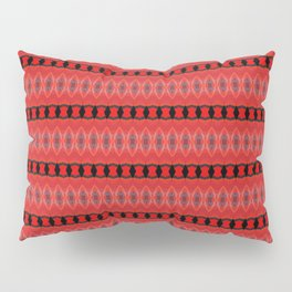 Red and Black Chain Abstract Pillow Sham
