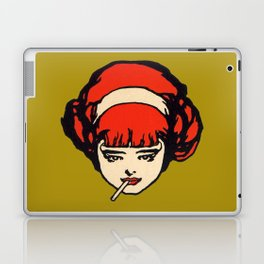 Vintage Smoking Girl French Cigarette Ad Laptop & iPad Skin