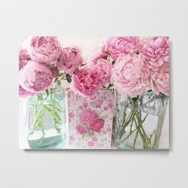 Peony Prints Peony Flowers Pink Peony Floral Decor Metal Print