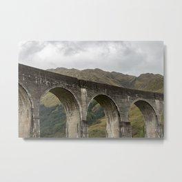 A Rather High Railway Metal Print