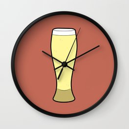 Beer Glasses (Weizen) Wall Clock